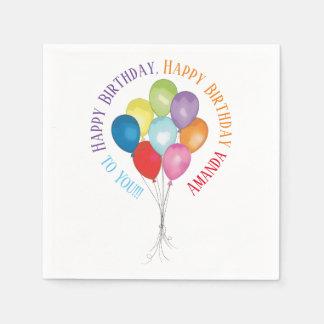 Alles Gute zum Geburtstag steigt Editable Serviette