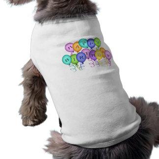 Alles Gute zum Geburtstag steigt Haustier-Kleidung Haustierklamotten