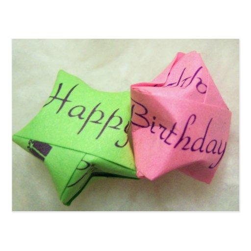 Alles Gute zum Geburtstag Stern-Postkarte wünschen