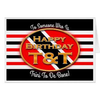 Alles Gute zum Geburtstag T&T Karte