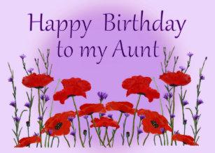 Alles Gute Zum Geburtstag Tante Karten Zazzle De
