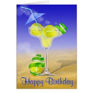 Alles Gute zum Geburtstag Tennis-Margarita Karte