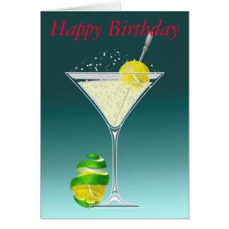 Alles Gute zum Geburtstag Tennis-Martinis Karte