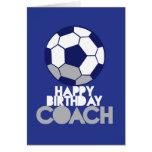 Alles Gute zum Geburtstag TRAINER mit Fußball Karten