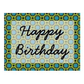 alles Gute zum Geburtstag Türkis-Grün Postkarte