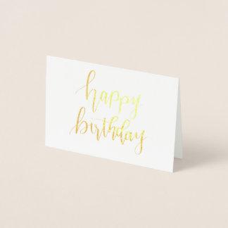 Alles Gute zum Geburtstag, übergeben mit Folienkarte
