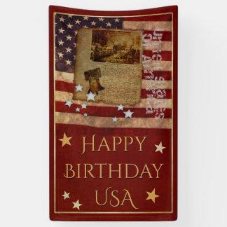 Alles Gute zum Geburtstag USA Banner