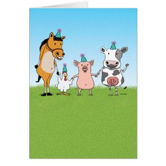 Alles Gute zum Geburtstag vom Bauernhof-Team Grußkarte