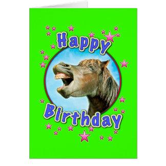 Alles Gute zum Geburtstag vom lachenden Pferd Karte