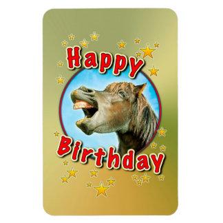 Alles Gute zum Geburtstag vom lachenden Pferd Magnet