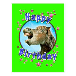 Alles Gute zum Geburtstag vom lachenden Pferd Postkarte