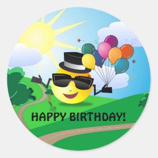 Alles Gute zum Geburtstag! vom smiley Runder Aufkleber
