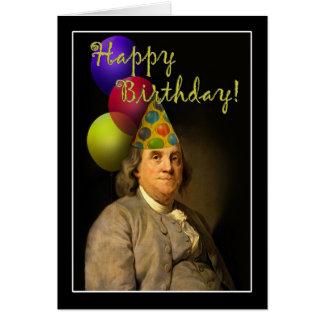 Alles Gute zum Geburtstag von Ben Franklin Karte