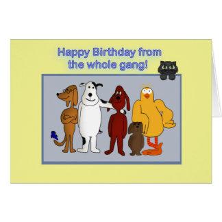 Alles Gute zum Geburtstag von der Gruppe Karte