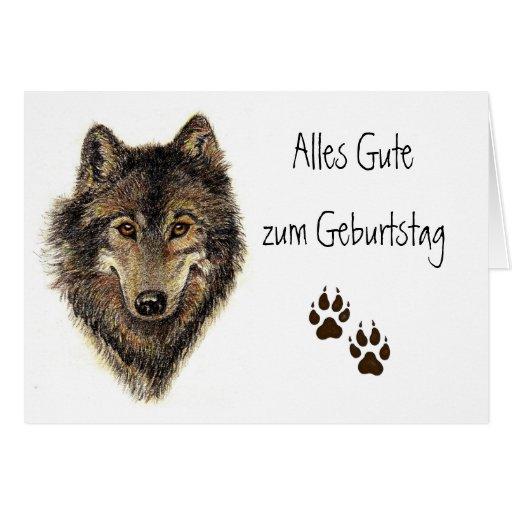 Alles Gute zum Geburtstag, Wolf, Wölfe, Tier Karten