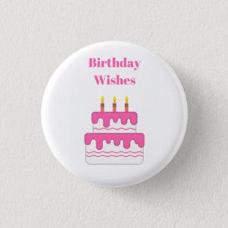 Alles Gute zum Geburtstag wünscht Abzeichen Runder Button 2,5 Cm
