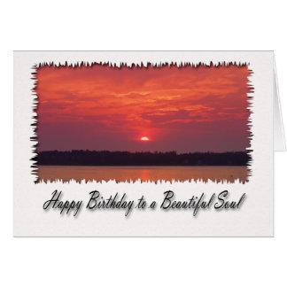 Alles Gute zum Geburtstag zu einem schönen Soul, Grußkarte