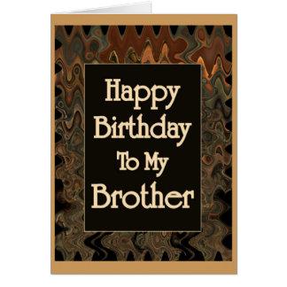 Alles Gute zum Geburtstag zu meinem Bruder Karte