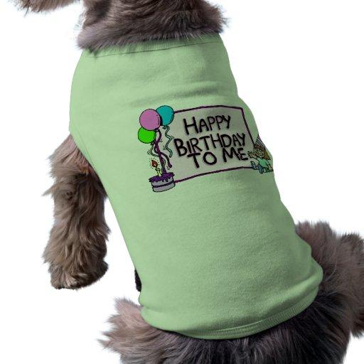 Alles Gute zum Geburtstag zu mir Mädchen Hunde-t-shirt