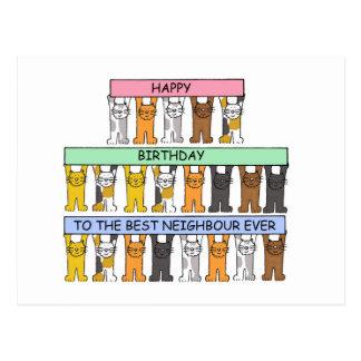 Alles Gute zum Geburtstag zum besten Nachbar Postkarte