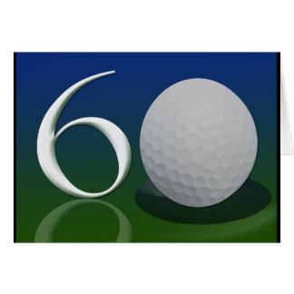 Alles Gute zum Geburtstag zur Golfnuß mit 60 Jähri Grußkarte