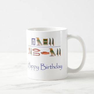 Alles- Gute zum Geburtstagägypter-Hieroglyphen Kaffeetasse