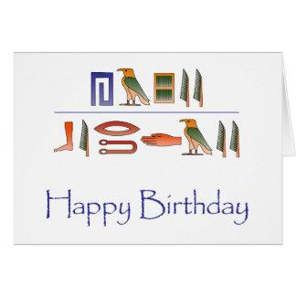 Alles- Gute zum Geburtstagägypter-Hieroglyphen Karte