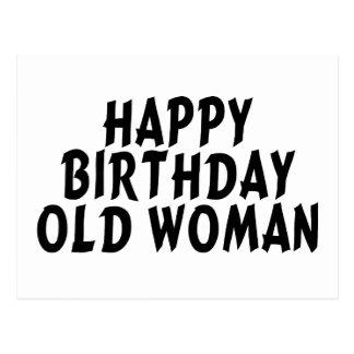 Alles- Gute zum Geburtstagalte Frau Postkarte