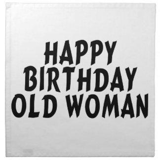 Alles- Gute zum Geburtstagalte Frau Serviette