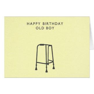 Alles- Gute zum Geburtstagalter Junge Karte