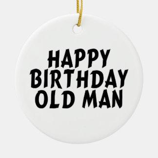 Alles- Gute zum Geburtstagalter Mann Keramik Ornament