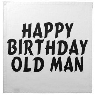 Alles- Gute zum Geburtstagalter Mann Stoffserviette