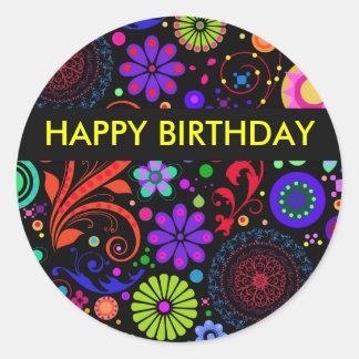 Alles- Gute zum Geburtstagaufkleber Runder Aufkleber