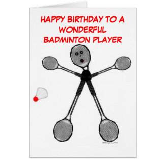 Alles- Gute zum Geburtstagbadminton-Spieler Karte