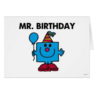 Alles- Gute zum Geburtstagballon Herr-Birthday | Mitteilungskarte