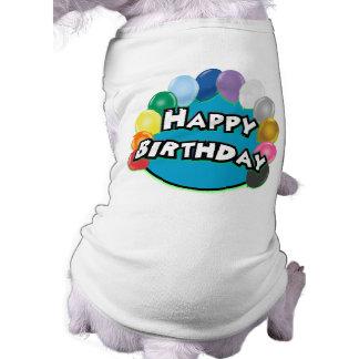 Alles- Gute zum Geburtstagballon-Kreis Hunde T Shirt