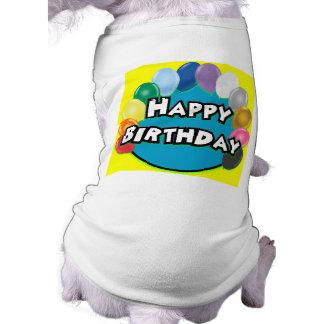 Alles- Gute zum Geburtstagballon-Kreis Haustierkleidung