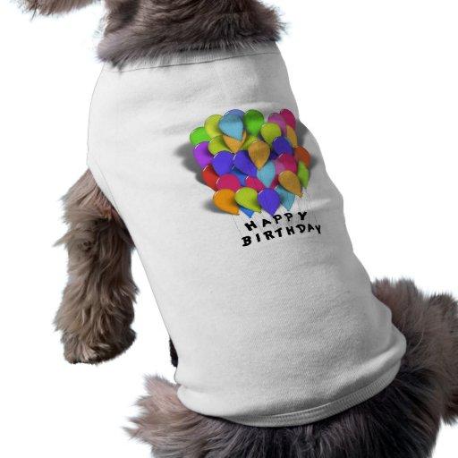 Alles- Gute zum Geburtstagballone für Mädchen (ros Hundeklamotten