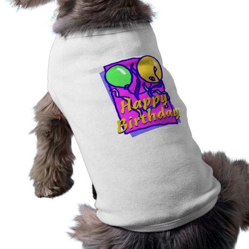 Alles Gute zum Geburtstagballone Hundeklamotten