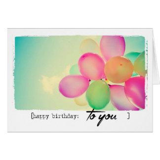 alles Gute zum Geburtstagballone Karte