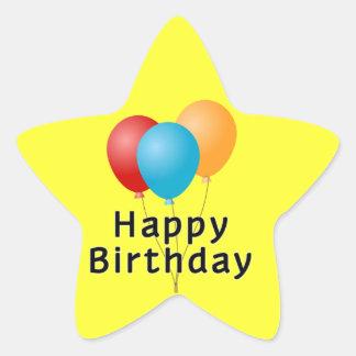 Alles- Gute zum Geburtstagballone Stern-Aufkleber