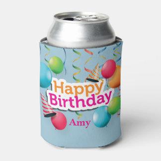 Alles- Gute zum Geburtstagballone und Hüte Dosenkühler