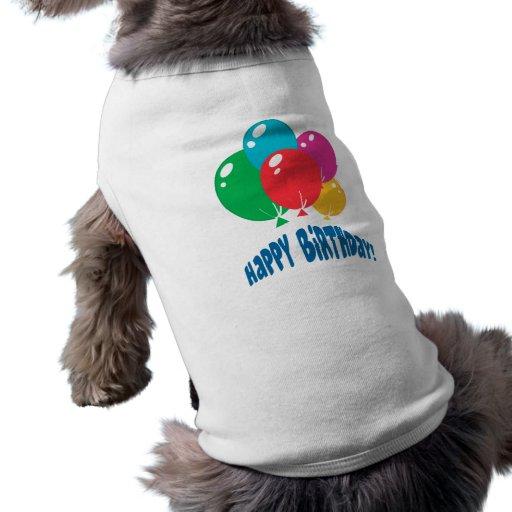 alles Gute zum Geburtstagballonentwurf Haustier T-shirt