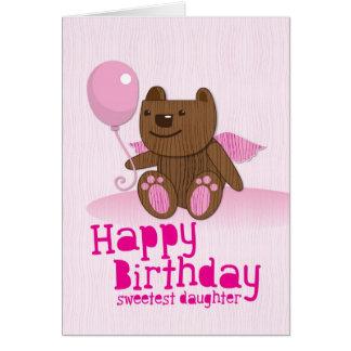 Alles- Gute zum Geburtstagbärn-süßeste Tochter! Karte