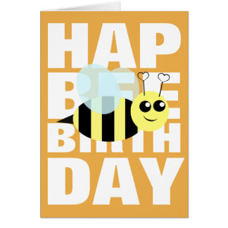 Alles- Gute zum Geburtstagbiene Karte