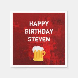 Alles- Gute zum Geburtstagbier-Tasse auf Servietten