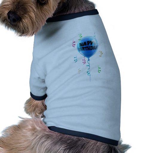 Alles Gute zum Geburtstagblauballon Hunde Shirts