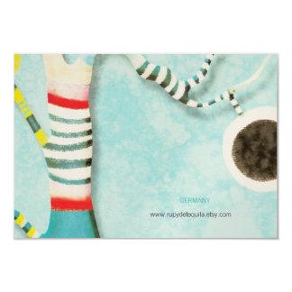 Alles- Gute zum Geburtstagblaue Baum-Einladung 8,9 X 12,7 Cm Einladungskarte