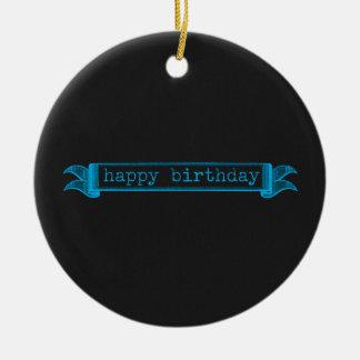 Alles- Gute zum Geburtstagblautafel Rundes Keramik Ornament