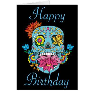 Alles- Gute zum GeburtstagBlumen-mexikanischer Karte